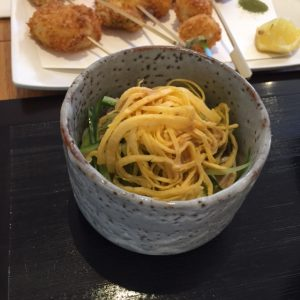 Organic Soba Salad Izakaya Dishes August 6 2017